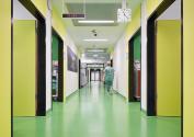 In der Uniklinik RWTH Aachen prägen nora Kautschukböden das Ambiente und überzeugen durch Funktionalität und Hygiene. Copyright: Markus Bachmann